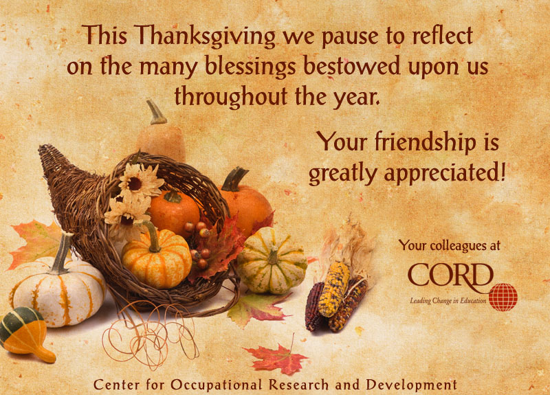 Thanksgiving greetings from your friends at cord thanksgiving greetings from your friends at cord m4hsunfo